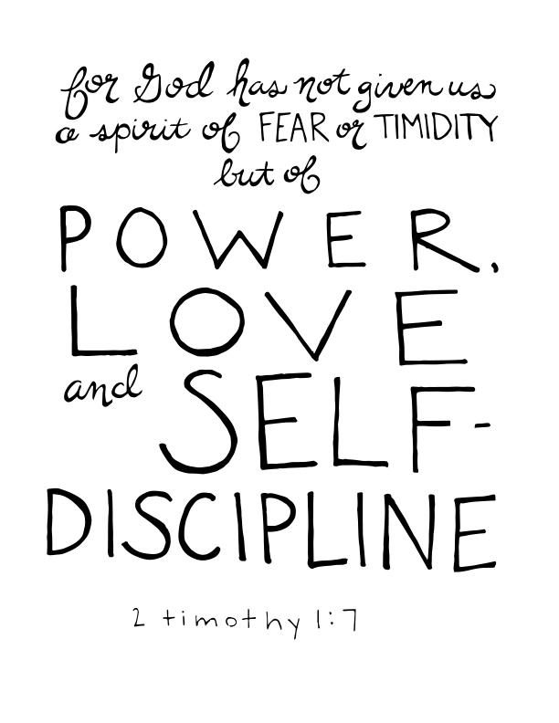 PowerLoveSelfDiscipline